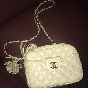 7b7aabf4c700 CHANEL Bags | Rare Vintage Bag Off White With Tassels | Poshmark